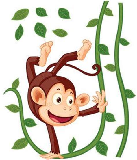 stickers singe suspendu achat stickers animaux de la jungle pour enfant decore ta chambre