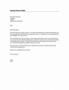 sample survey cover letter the best letter sample With how to write a cover letter for a questionnaire