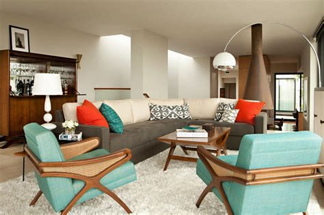 retro style room ideas living room minimalist retro interior design with arco style floor l and elegant sectional