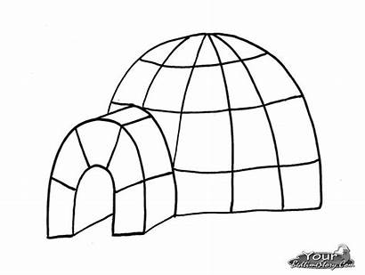 Igloo Coloring Buildings Architecture Coloriage Printable Coloriages