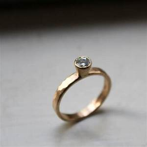 14k hammered gold moissanite diamond engagement ring With hammered gold wedding ring