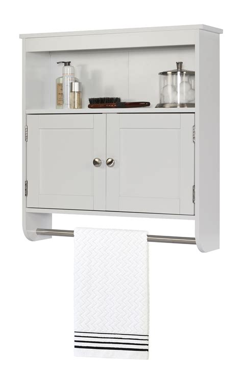 wall cabinet with towel bar home furniture bathroom