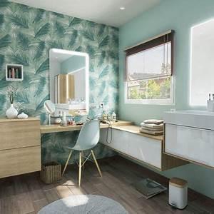Coiffeuse Salle De Bain : 13 salles de bains qui donnent le ton c t maison ~ Teatrodelosmanantiales.com Idées de Décoration