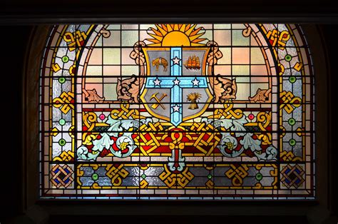awesome stained glass window   qvb sydney australia