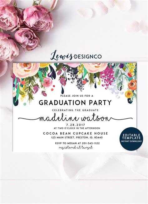 graduation party invitation high school graduation invite