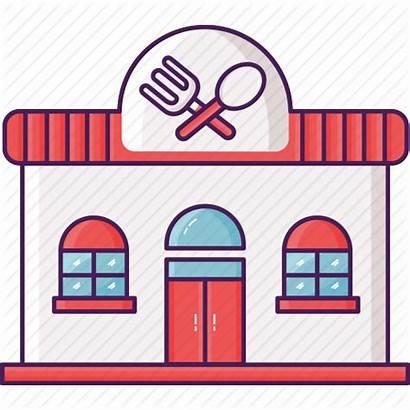 Restaurant Icon Building Clipart Clip Transparent Cafe