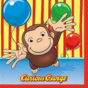 Curious George Lunch Napkins | Ty's Toy Box