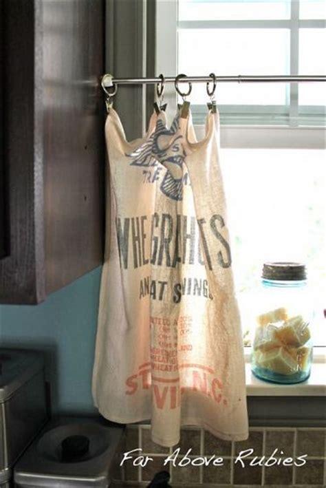 feed sack curtains 25 best ideas about feed sacks on flour sacks
