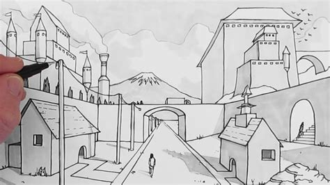 Easy Backgrounds To Draw How To Draw A Background Draw 1 Point Perspective
