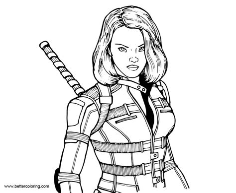 Coloring Pages Black Widow by Marvel Black Widow Coloring Pages Free