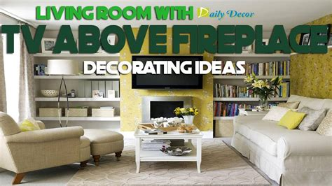 daily decor living room  tv  fireplace