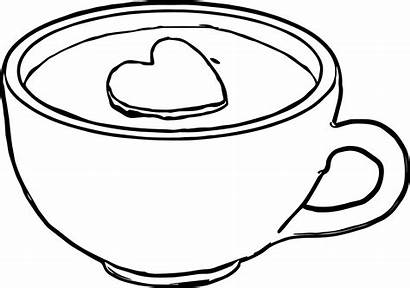 Coffee Coloring Mug Cup Pages Tea Colouring