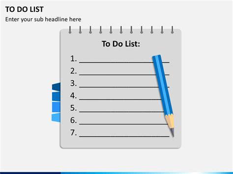 list powerpoint template sketchbubble
