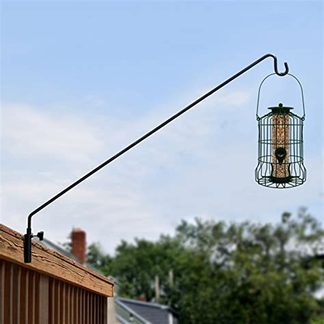 heavy duty bird feeder pole graybunny gb 6833 heavy duty extended reach wall mounted