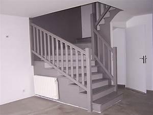 escalier gris et bois meilleures images d39inspiration With peindre un escalier en gris 0 peindre un escalier ce serait le bonheur
