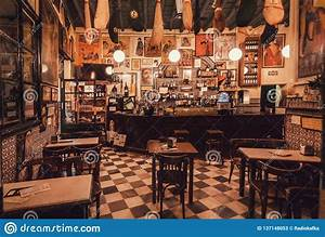 Interior Of Old Restaurant With Vintage Style Decoration
