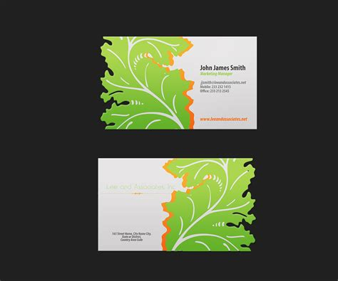 159 bold modern landscape business card designs for a