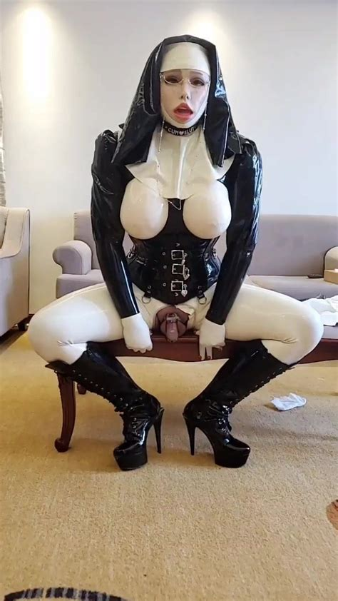 Latex Sissy Nun Fuck Herself In Chastity Shemale Porn C9