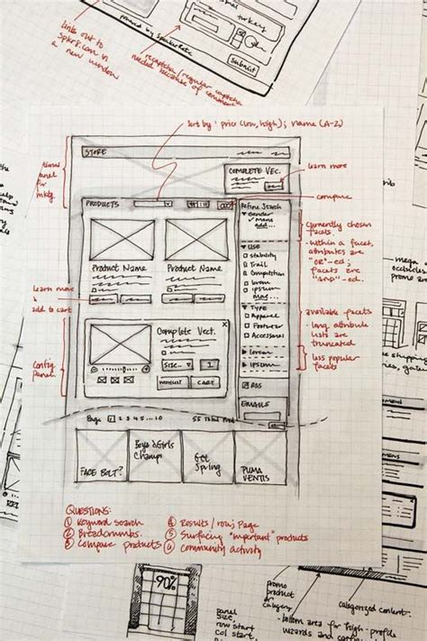 great examples  web design sketches sketching