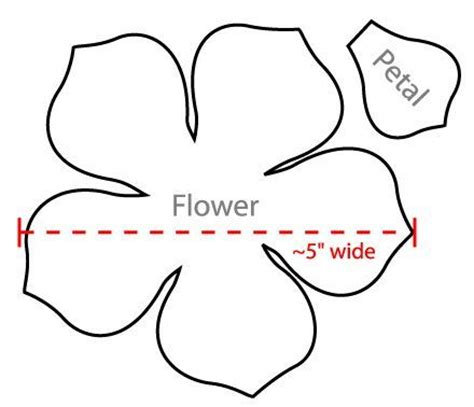 Burlap Flower Template by Flower Petal Templates Wow Image Results Sagome