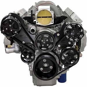 Billet Specialties Tru Trac Black Chevy Ls1 Ls2 Ls3 Ls6 Ls7 Serpentine Engine Kt