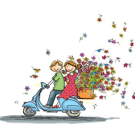 bloemen rand png vespa scooter met bloemen vriendschap kaarten kaartje2go