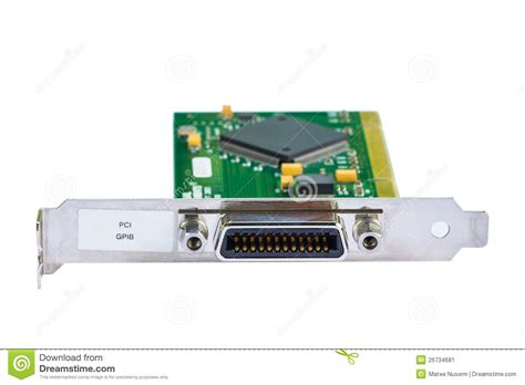 Electric Card by Electronic Card Pci Card Stock Image Image Of