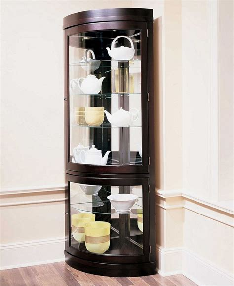 Corner Bookcase Espresso by Contemporary Curved Corner Curio Cabinet