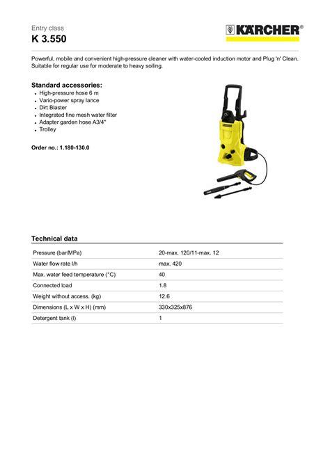 free pdf for karcher k 330 m pressure washers other manual