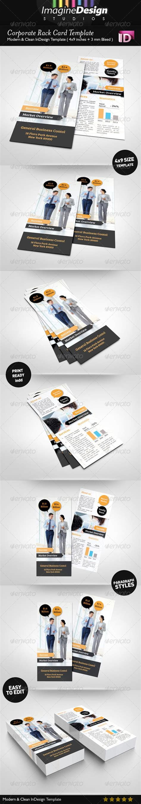 corporate rack card template  images rack card