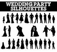 Silhouettes  Bride...
