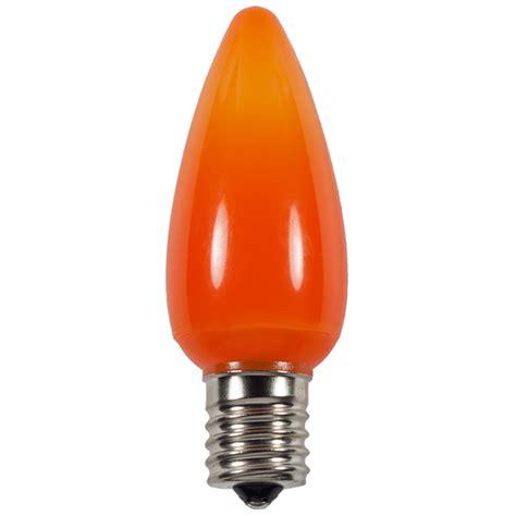 c9 orange smooth led light bulbs
