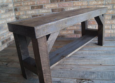 rustic entryway bench reclaimed entry bench all salvage wood rustic and