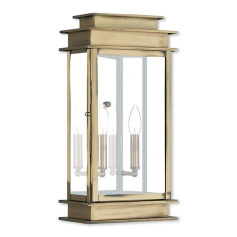 livex lighting princeton 2 light antique brass outdoor