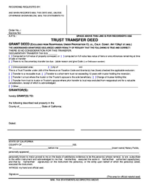 living trust forms oklahoma trust transfer deed fill online printable fillable