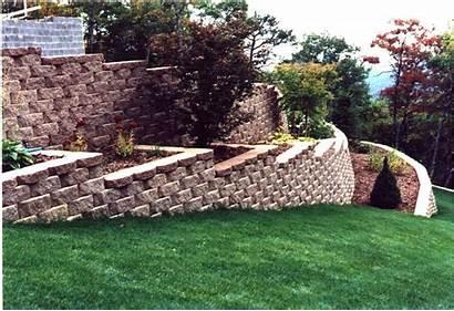 Retaining Wall Walls Blocks Block Landscaping Garden