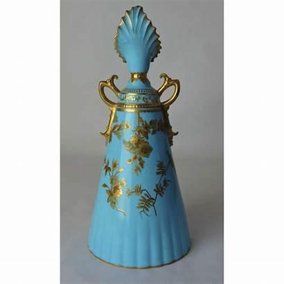 Vase Crown 1891 Royal Derby Gilt Tapered