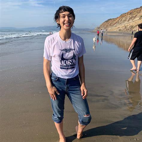 Half Asian Twink Jaegyun Schwartz Goes Skinny Dipping In
