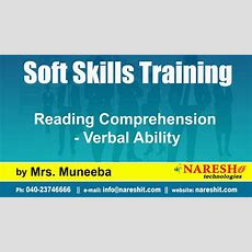 Reading Comprehension  Verbal Ability  Soft Skills Training Youtube