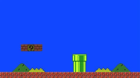 Mario Animated Wallpaper - mario bros blue screen animation