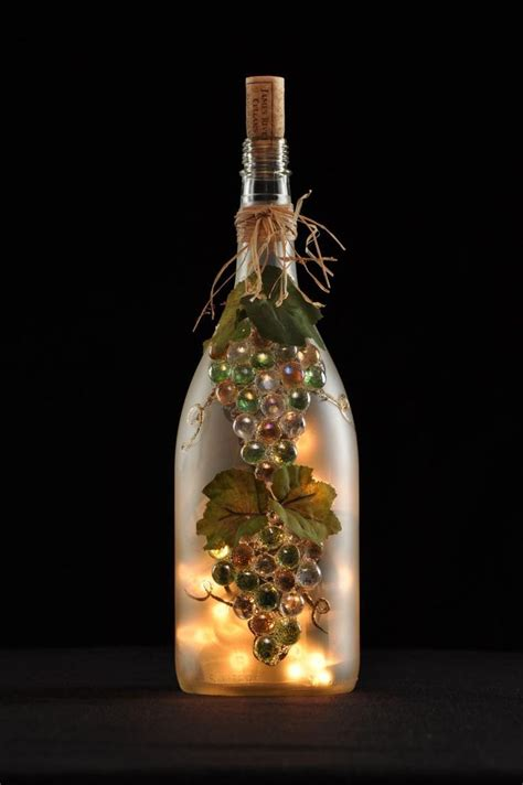 Decorative Wine Bottles With Lights by Best 25 Lighted Wine Bottles Ideas On Wine
