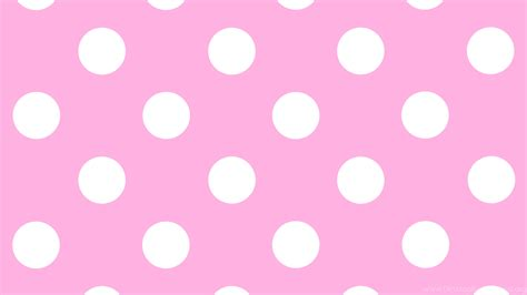 wallpapers pink  white polka dot dots pattern  clip