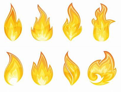 Flame Fire Transparent Flames Clipart Clip Yellow