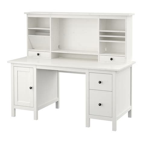 ikea office desk white hemnes desk with add on unit white stain 155x137 cm ikea