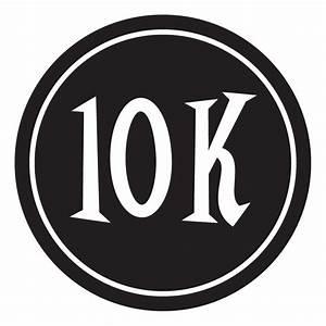"10K Sticker – 4"" Circle (Black)  10k"