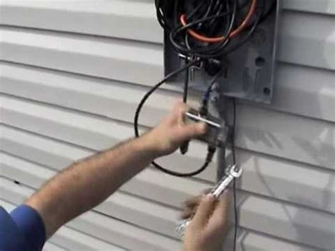Exterior Cable Tv Wiring Box by Cable Step By Step New Install Part 4