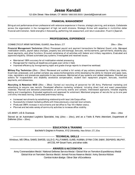 exle finance resume for conversion free sle