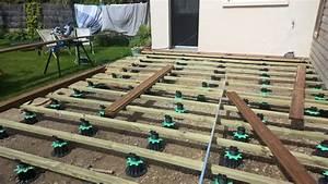terrasse bois sur sol meuble excellent construire une With terrasse en bois sur terre