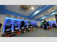 Manchester City FC dressing room UEFA Champions League