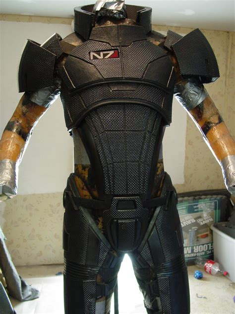 Mass Effect 3 N7 Armor Template by Mass Effect N7 Wip